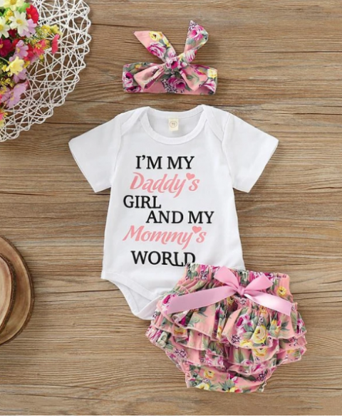 I'm Daddy's Girl & My Mommy's World 3pc Set