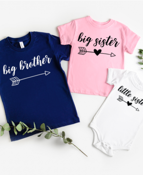 "Matching ""Big & Little"" Sibling Shirts"