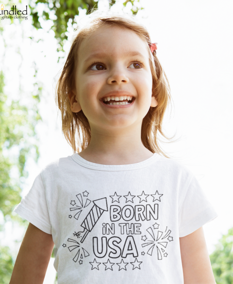 Washable Born in the USA Coloring Set