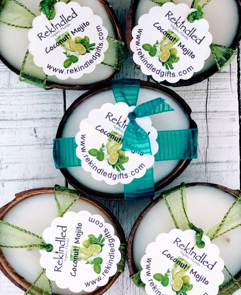Mojito Coconut Shell Candles