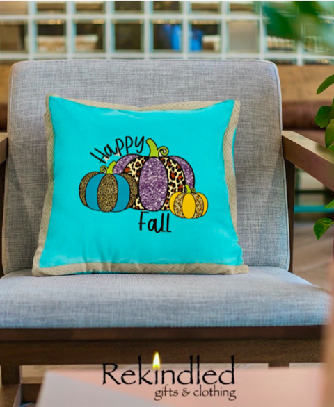 Happy Fall (Jute Trim) Pillow Cover