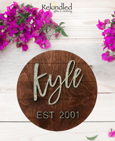 Personalized Established Family Name Signs - Rustic