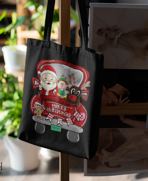 "Santa & Friends ""Merry Christmas"" Tote"