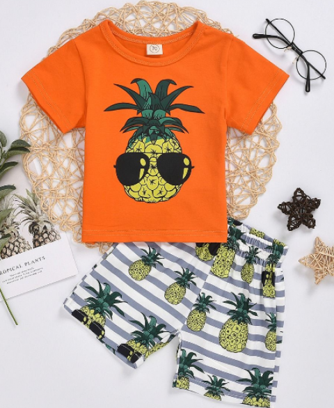 2pc Pineapple Summer Set