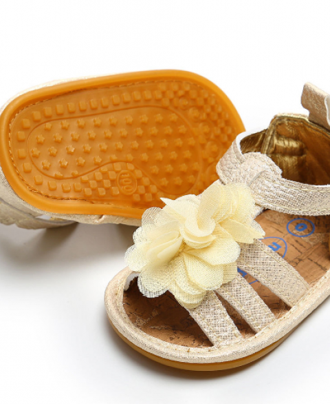 Flower Bowknot Anti-Slip Infant Sandals