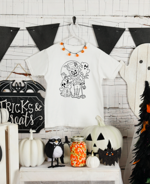 Spooktacular Halloween Coloring Tee (Toddler)