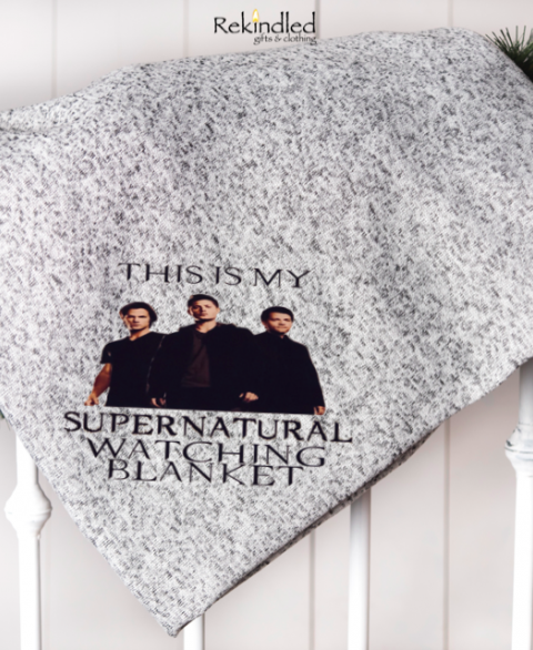 "Supernatural Watching 50""x60"" Throw Blanket"
