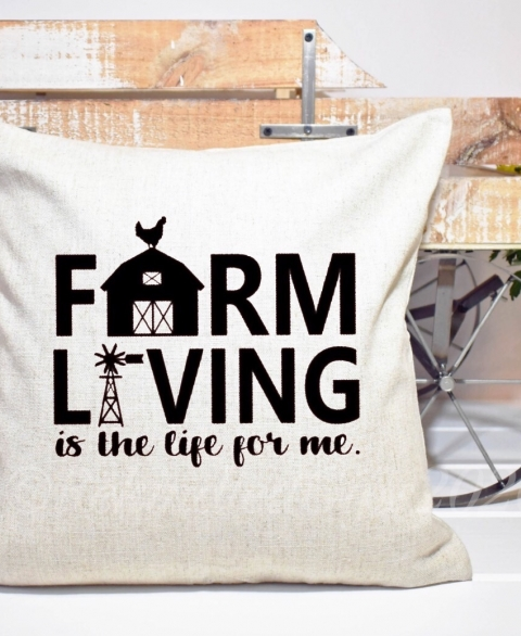 Farm Living Pillow Cover