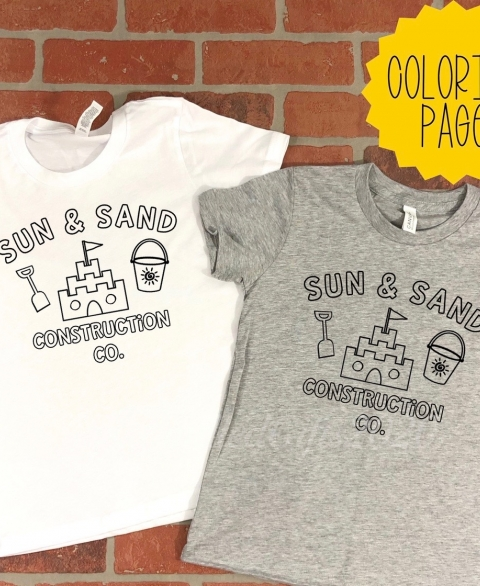 Sun & Sand Construction Co. Washable Coloring Shirt