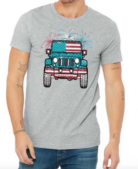 4th of July Jeep - Mens