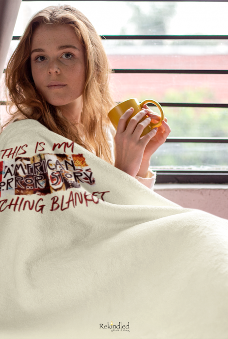 """This Is My AHS Watching 50""""x60"""" Throw Blanket"""
