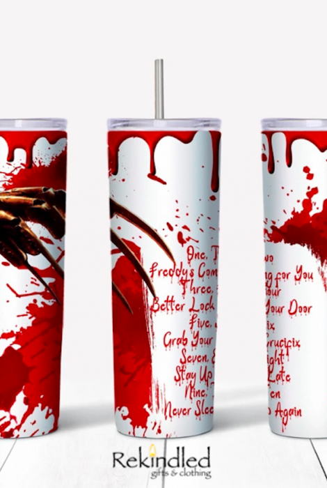 One, Two, Freddy's Coming For You 20oz Skinny Tumbler