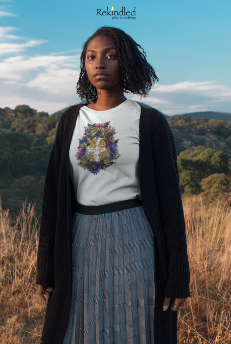 HP Floral Crest Tee