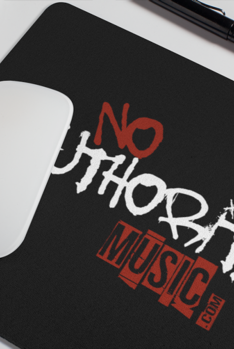 Designer No Authority Music Mouse Pad