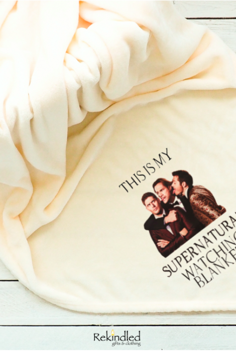 "Dean, Sam, Cas Supernatural Watching 50""x60"" Throw Blanket"