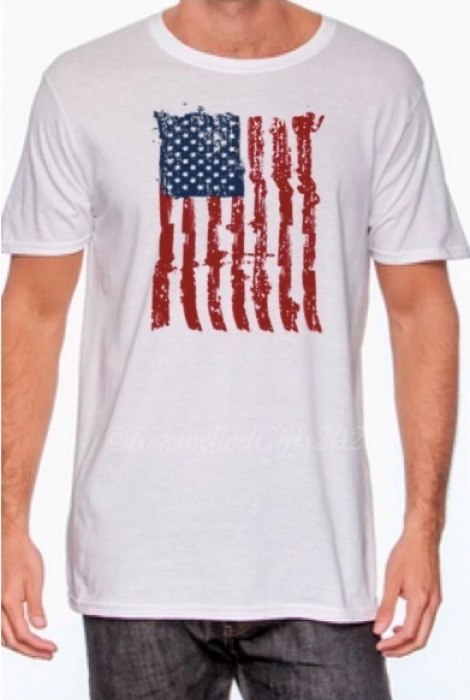 Distressed American Flag - Mens