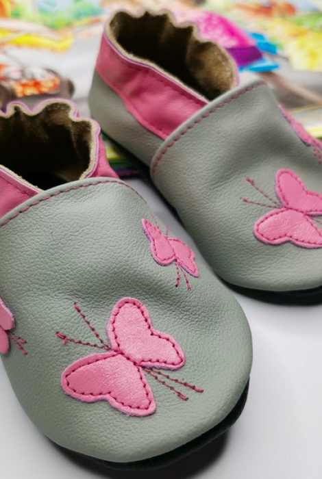 Butterfly Soft-Soled Infant/Toddler Shoes