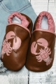 Pink Pinchies Soft-Soled Baby Shoes